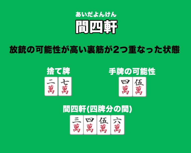 麻雀用語・間四軒