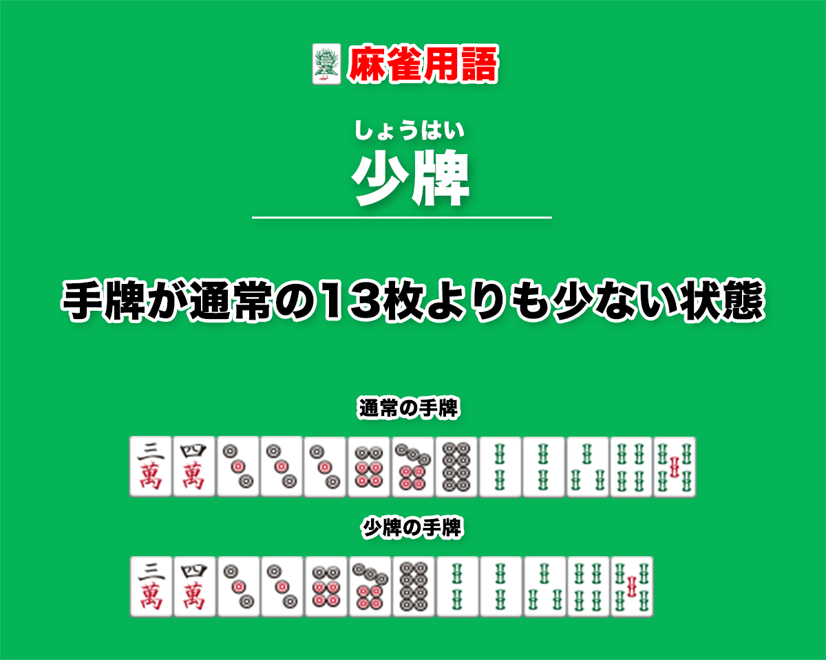 麻雀用語・少牌の説明