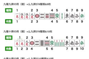 麻雀の九種九牌の解説