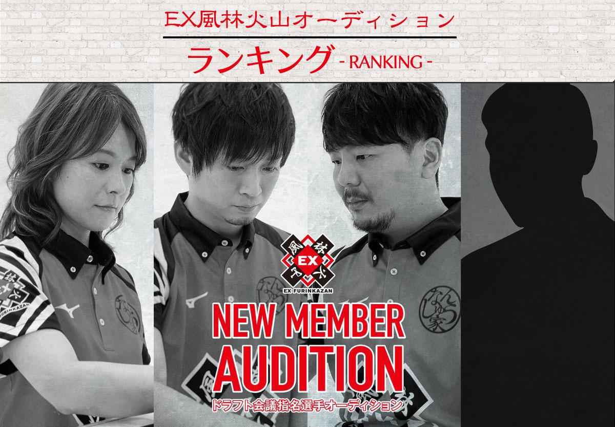 EX風林火山ドラフト会議指名選手オーディションランキング